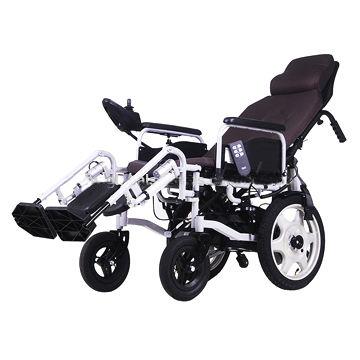 Remote Recline Folding Power Wheelchair