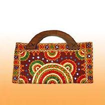 Ladies Embroidered Cotton Handbags (TF-033)