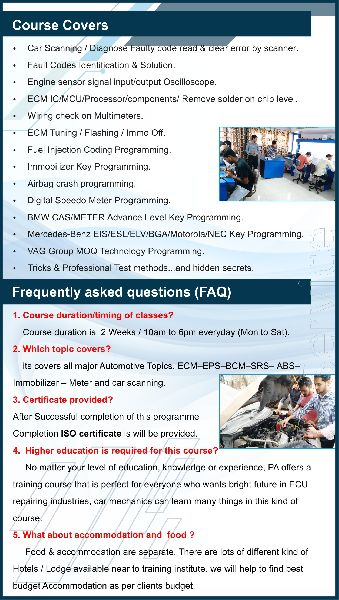 Services - ECM REPAIRING COURSE in Surat Offered by Purnima Auto