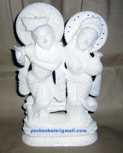 Alabaster Marble Krishna Radha Statues