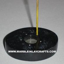 Black Soapstone Incense Stick Holder
