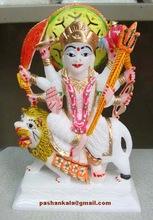 Colorful Durga Maa Statues