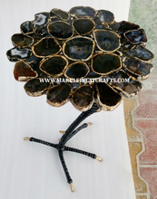 Gemstone Natural Agate Coffee Table Tops