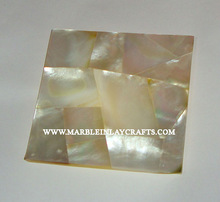 Handcrafted Marble Mother Of Pearl Tile