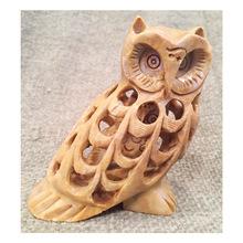 Marble Owl Figure