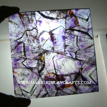 Natural Gemstone Amethyst Tile