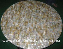 Round Mother Of Pearl Table Top
