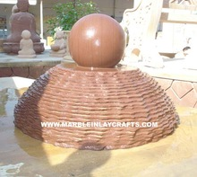 Sandstone Ball Water Fountain