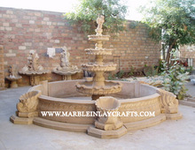 Sandstone Garden Decorative Fountain