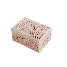 Soapstone Carved Stone Jewellery Box
