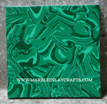 Square Malachite Semi Precious Wall Tile