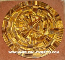 Tiger Eye Stone Table Top