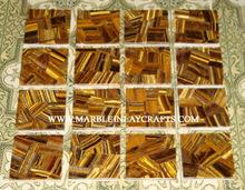 Wild Gold Tiger Eye Gemstone Tiles