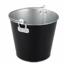 BLACK COLOR GALVANIZED ICE BUCKET