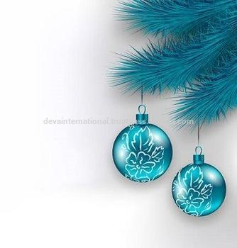 BLUE COLOR CHRISTMAS HANGING BOLL