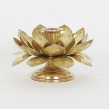 BRASS LOTUS FLOWER CANDLE HOLDER