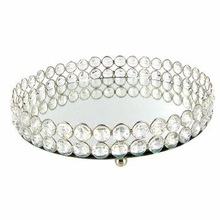 CHEAP DESIGN CRYSTAL ROUND TRAY