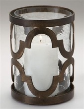 DORMA BRASS HURRICANE CANDLE HOLDER