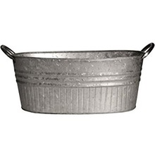 GALVANIZE METAL BASIN OVAL TUB