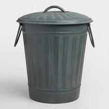 GALVANIZED TRASH GARBAGE CANS