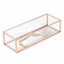 GLASS TRINKET JEWELRY BOX