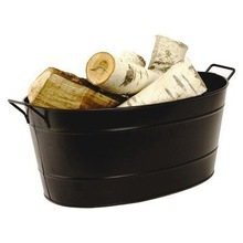 METAL GALVANIZE OVAL PARTY TUB