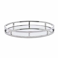 METAL STYLES CRYSTAL ROUND TRAY