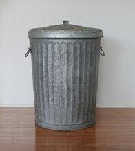 METAL TRASH GARBAGE CANS