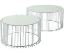 metal wire round coffee table