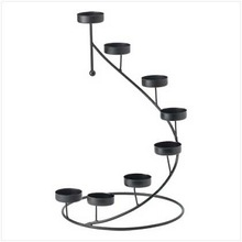 METAL WROUGHT IRON CANDLE HOLDER
