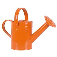ORANGE COLOR GALVANIZED WATERING CAN