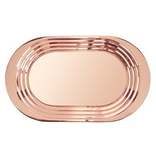 OVAL SHAPE PURE COPPER TRAY