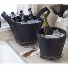 RECYCLED RUBBER ROUND ICE BUCKET