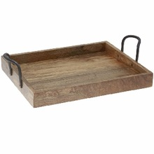 WOODEN RECTANGLE STORAGE TRAY