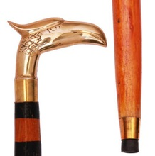 Wooden Hand Craved Jogging and Walking Stick-cane