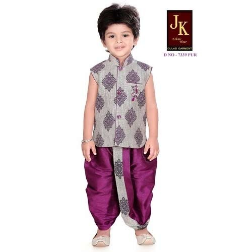 Designer Kids Dhoti Suits (7339PUR)