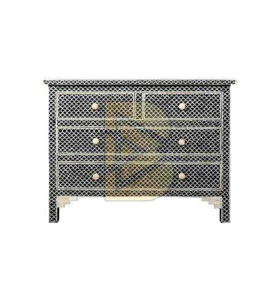 3b207bf812ed Bone Inlay Fishscale Design Blue Chest of Four Drawers Manufacturer ...