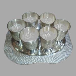 Silver Glass Set