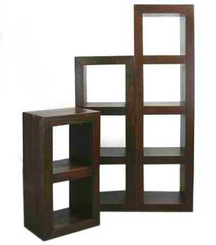 Wooden Cube Book Shelf