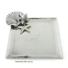 Aluminum Platters With Seashore Design