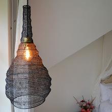 Bird cage wire mesh pendant lamp