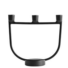 Black Cast Iron Candle Holder