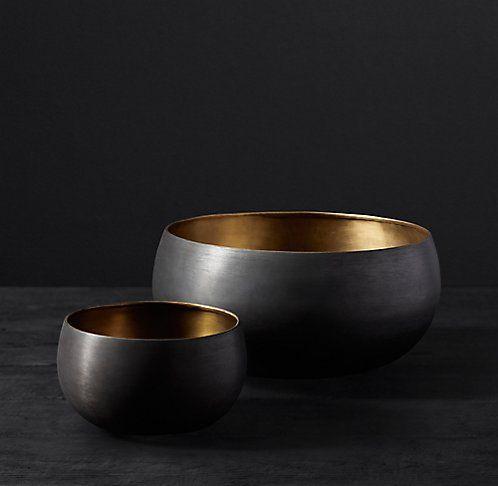 Black Metal Aluminum Enamel Bowls