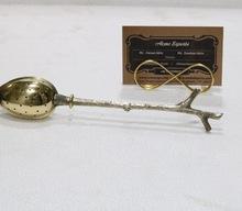Brass tea strainer spoon