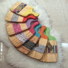 color Wooden coding chopping board