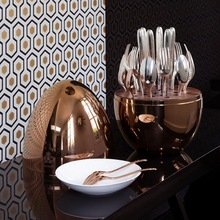Copper Cutlery Holder
