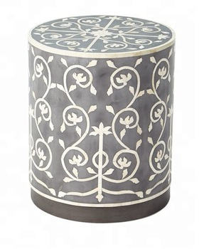 Horn and Bone inlay side table