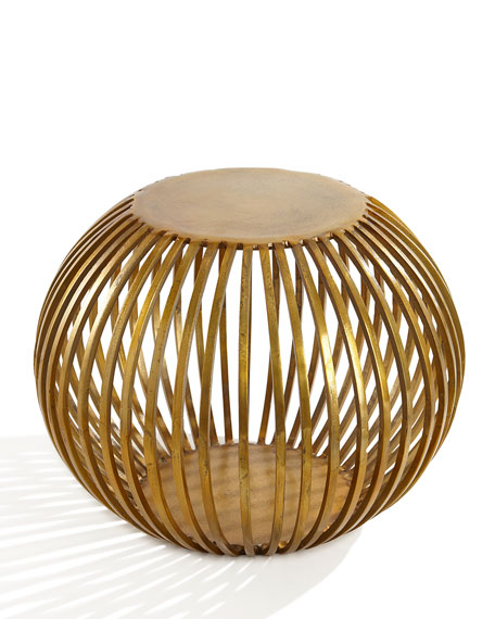 Iron Gold Plated Ball Shaped Metal home side tables