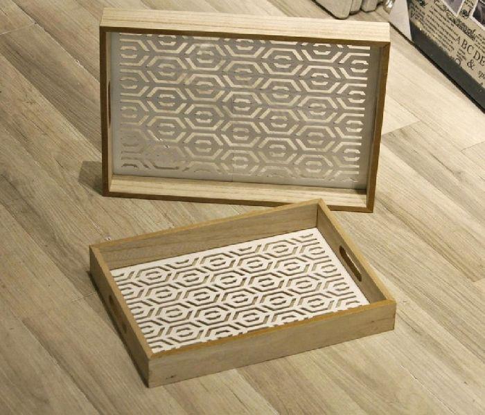laser Cut food wooden Storage tray