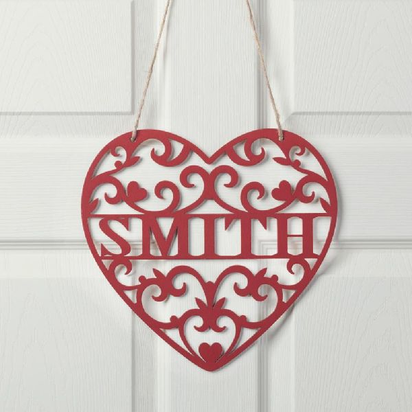 MDF Wooden Hearts Plaques